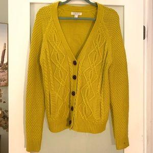 Knit yellow cardigan